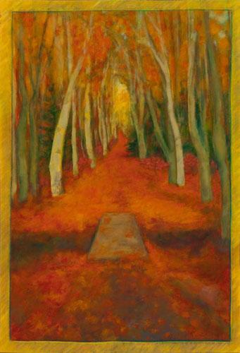 Autumn Trees Floor Cloth