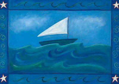 Sailing 2009 Floor Cloth