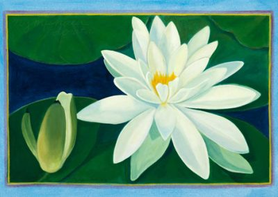 White Lily Floor Cloth